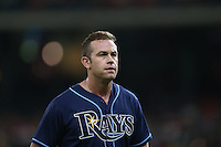 HOUSTON, TX - AUGUST 26:  Evan Longoria #3 of the Tampa Bay Rays stands on the field against the Houston Astros during the game at Minute Maid Park on Friday, August 26, 2016 in Houston, Texas. Photo by Brad Mangin