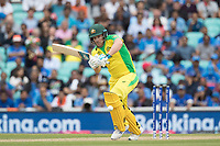Aaron Finch (Australia) drops the ball into the on side during India vs Australia, ICC World Cup Cricket at The Oval on 9th June 2019