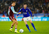 8th January 2020; King Power Stadium, Leicester, Midlands, England; English Football League Cup Football, Carabao Cup, Leicester City versus Aston Villa; Ben Chilwell of Leicester City challenges Jack Grealish of Aston Villa - Strictly Editorial Use Only. No use with unauthorized audio, video, data, fixture lists, club/league logos or 'live' services. Online in-match use limited to 120 images, no video emulation. No use in betting, games or single club/league/player publications