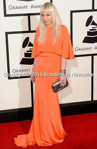 Pictured: Natasha Bedingfield<br /> Mandatory Credit &copy; Adhemar Sburlati/Broadimage<br /> The Grammy Awards  2014 - Arrivals<br /> <br /> 1/26/14, Los Angeles, California, United States of America<br /> <br /> Broadimage Newswire<br /> Los Angeles 1+  (310) 301-1027<br /> New York      1+  (646) 827-9134<br /> sales@broadimage.com<br /> http://www.broadimage.com