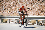 Stijn Steels (BEL) Roompot-Charles from the breakaway during Stage 5 of the 10th Tour of Oman 2019, running 152km from Samayil to Jabal Al Akhdhar (Green Mountain), Oman. 20th February 2019.<br /> Picture: ASO/P. Ballet | Cyclefile<br /> All photos usage must carry mandatory copyright credit (&copy; Cyclefile | ASO/P. Ballet)