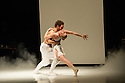 "London, UK. 22.06.2014. Eastman/Sidi Larbi Cherkaoui presents ""4D"", a compilation of duets from his work, as part of Sadler's Sampled, a two week taster festival of dance at low prices, which runs to 29th June. Picture shows: ""Pure"" with Guro Nagelhus Schia and Vebjorn Sundby. Photograph © Jane Hobson."