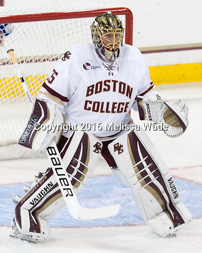 Ryan Edquist (BC - 35) - The Boston College Eagles defeated the visiting Colorado College Tigers 4-1 on Friday, October 21, 2016, at Kelley Rink in Conte Forum in Chestnut Hill, Massachusetts.The Boston College Eagles defeated the visiting Colorado College Tiger 4-1 on Friday, October 21, 2016, at Kelley Rink in Conte Forum in Chestnut Hill, Massachusett.