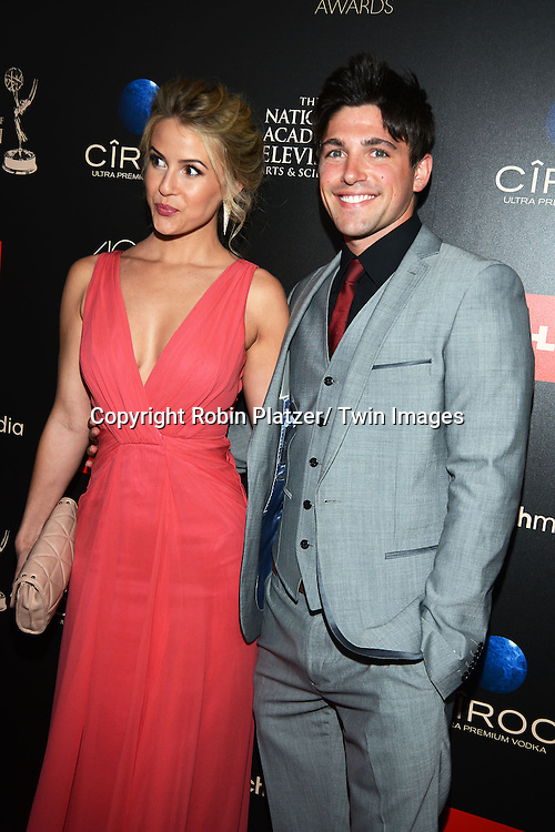 Linsey Godfrey and Robert Adamson attends The 40th Annual Daytime Emmy Awards on<br />  June 16, 2013 at the Beverly Hilton Hotel in Beverly Hills, California.