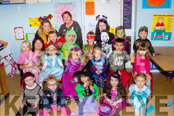 Little Amber Keating and her friends in Castlemaine Maine Valley creche held a Halloween fancy dress party in aid of Temple Street, Childrens Hospital Neology Department