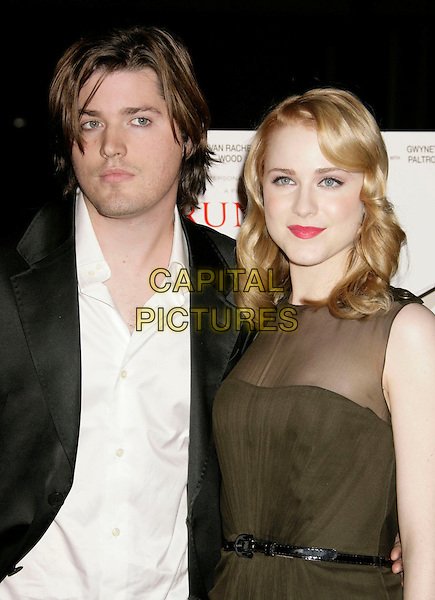 "IRA WOOD & EVAN RACHEL WOOD.""Running with Scissors"" World Premiere held at the Academy of Motion Pictures Arts and Sciences, Beverly Hills, California, USA..October 10th, 2006.Ref: ADM/RE.half length green sheer brother sister siblings family.www.capitalpictures.com.sales@capitalpictures.com.©Russ Elliot/AdMedia/Capital Pictures."