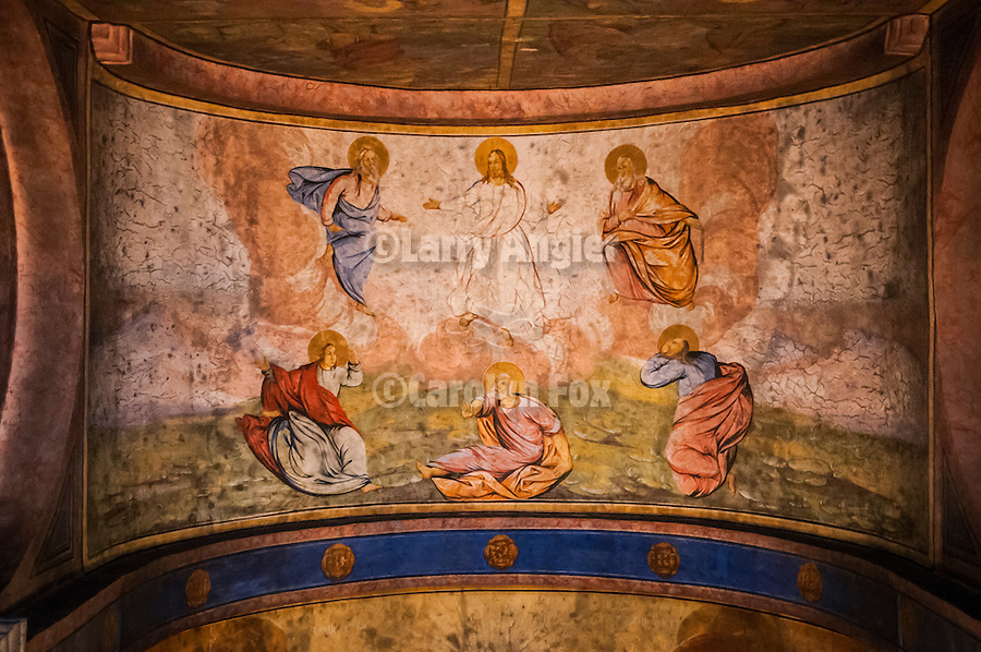 Monatery Raca, established in the 13th century and rebuilt in the 19th century after burning while part of the Ottoman Empire.<br /> <br /> Icons and frescos inside the main chapel