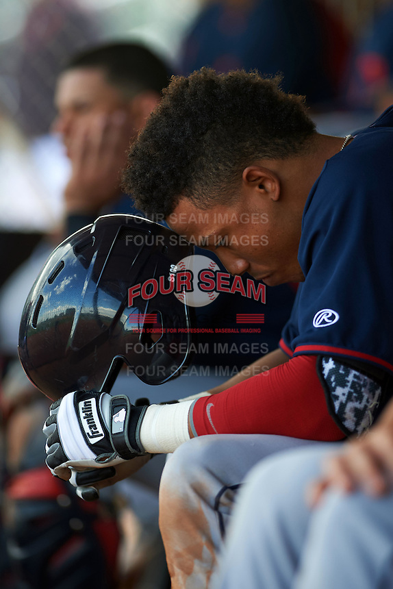 Cleveland Indians Todd Isaacs (29) during an instructional league game against the Cincinnati Reds on October 17, 2015 at the Goodyear Ballpark Complex in Goodyear, Arizona.  (Mike Janes/Four Seam Images)