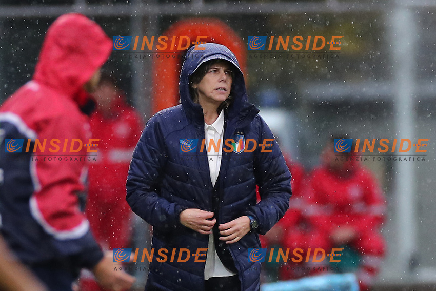 Milena Bartolini coach of Italy looks on<br /> Castel di Sangro 12-11-2019 Stadio Teofolo Patini <br /> Football UEFA Women's EURO 2021 <br /> Qualifying round - Group B <br /> Italy - Malta<br /> Photo Cesare Purini / Insidefoto
