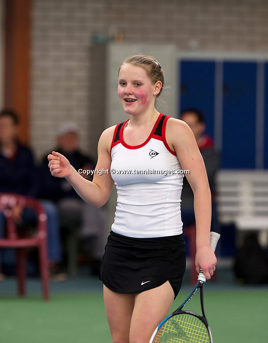 March 8, 2015, Netherlands, Rotterdam, TC Victoria, NOJK, Suzan Lamens wins girls 16 years<br /> Photo: Tennisimages/Henk Koster