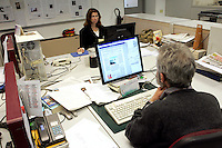 Redazione dell'Osservatore Romano, Citta' del Vaticano, 10 marzo 2009..Editorial office of the Vatican newspaper L'Osservatore Romano, Vatican City, 10 march 2009..UPDATE IMAGES PRESS/Riccardo De Luca