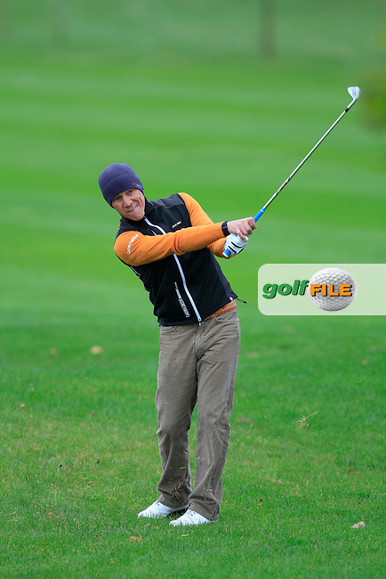 Jussi Pitkanen(Dave Pelz Scoring Game School) on the 14th during Round 4 of The Cassidy Golf 103rd Irish PGA Championship in Roganstown Golf Club on Sunday 13th October 2013.<br /> Picture:  Thos Caffrey / www.golffile.ie