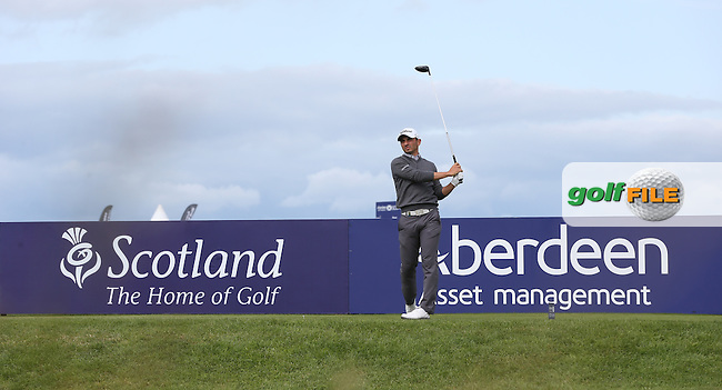Jerome Lando-Casanova (FRA) during Round Three of the 2015 Aberdeen Asset Management Scottish Open, played at Gullane Golf Club, Gullane, East Lothian, Scotland. /11/07/2015/. Picture: Golffile | David Lloyd<br /> <br /> All photos usage must carry mandatory copyright credit (&copy; Golffile | David Lloyd)