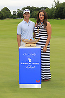Calum Hill (SCO) wins the tournament by 1 shot pictured with Lindsay Millar Mayor Mid &amp; East Antrim Council, at the end of Sunday's Final Round of the Northern Ireland Open 2018 presented by Modest Golf held at Galgorm Castle Golf Club, Ballymena, Northern Ireland. 19th August 2018.<br /> Picture: Eoin Clarke | Golffile<br /> <br /> <br /> All photos usage must carry mandatory copyright credit (&copy; Golffile | Eoin Clarke)