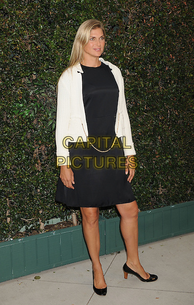 Gabrielle Reece.The Natural Resources Defense Council's Ocean Initiative Benefit Hosted By Chanel at a private residence in Malibu, California, USA. .June 4th, 2011 .full length black dress white jacket knitted cardigan blazer chain gold.CAP/ROT/TM.©Tony Michaels/Roth Stock/Capital Pictures