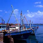 Fishing boats. Pattaya beach, Thailand.