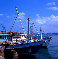 Fishing boats. Pattaya beach, Thailand.