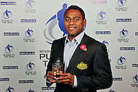 PICTURE BY SIMON WILKINSON/SWPIX.COM...Rugby League - Gillette 4 Nations 2011 - Rugby League International Federation International Player of the Year Awards 2011 - Tower of London, London, England - 02/11/11…Australia's Akuila Uate wins Winger of the Year.