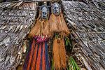 Sepik men in masks, Papua New Guinea