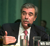 United States Secretary of Commerce-designate Carlos Gutierrez testifies before the United States Senate Committee on Commerce, Science, and Transportation in Washington, D.C. on January 5, 2004. The Committee is considering Mr. Gutierrez' nomination as Secretary of Commerce to replace Don Evans.<br /> Credit: Ron Sachs / CNP