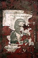 An election poster in Antananarivo, Madagascar for Madagascarian President Albert Zafy - 1996