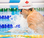 Isaac Bouckley, of Port Hope, ON, competes in the men's 100m breaststroke SB9 classification heats at the Olympic Aquatics Stadium during the Paralympic Games in Rio de Janeiro, Brazil, on September 8, 2016.