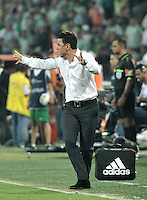 MEDELLIN- COLOMBIA – 03-12-2014: Marcelo Gallardo tecnico de River Plate de Argentina durante partido de ida de la final de la Copa Total Suramericana entre Atletico Nacional de Colombia y River Plate de Argentina en el estadio Atanasio Girardot de la ciudad de Medellin.  / Marcelo Gallardo coach of River Plate of Argentina during a match for the first leg of the final between Atletico Nacional of Colombia and River Plate of Argentina of the Copa Total Suramericana in the Atanasio Girardot stadium, in Medellin city. Photo: VizzorImage / Luis Ramirez/ Staff.