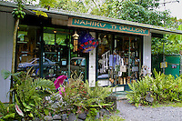 Quaint gift shops and local cafes invite tourist driving along the famous Road to Hana, Maui