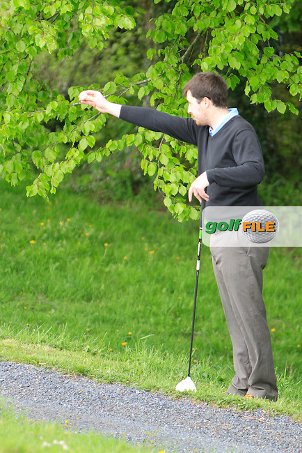 Des Morgan (Mullingar) taking a drop ball on the 4th during the Mullingar Scratch Trophy Day 1at Mullingar Golf Club Belvedere 18th May 2013.Picture: Thos Caffrey www.golffile.ie...