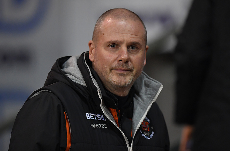 Blackpool's Manager Terry McPhillips<br /> <br /> Photographer Dave Howarth/CameraSport<br /> <br /> The Emirates FA Cup Second Round Replay - Blackpool v Solihull Moors - Tuesday 18th December 2018 - Bloomfield Road - Blackpool<br />  <br /> World Copyright © 2018 CameraSport. All rights reserved. 43 Linden Ave. Countesthorpe. Leicester. England. LE8 5PG - Tel: +44 (0) 116 277 4147 - admin@camerasport.com - www.camerasport.com
