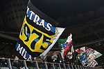 Inter fans wave giant flags during the Coppa Italia match at Giuseppe Meazza, Milan. Picture date: 14th January 2020. Picture credit should read: Jonathan Moscrop/Sportimage