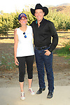 LOS ANGELES - AUG 27: Clay Walker, Cheryl Kagan at the Clay Walker Country at the Downs concert  at Galway Downs on August 27, 2017 in Temecula, California