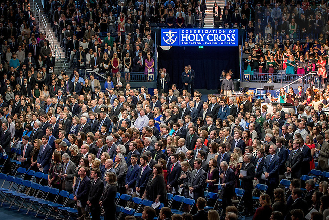 February 18, 2017; Junior Parents Weekend Mass in the Purcell Pavilion (Photo by Matt Cashore/University of Notre Dame)