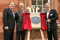 Pictured at the unveiling of The Crossrail Award for Urban Heritage at Nottingham Station are from left, Jake Kelly, Managing Director of East Midlands Trains, Andy Savage, Trustee of the National Railway Heritage Awards and Howard Smith, Operations Director for Crossrail