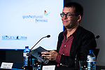 """Spanish writter Angel Sala during the projection of the short film """"Milagros y Remedios"""", the second part of the group film """"En tu Cabeza"""" at the Festival de Cine Fantastico de Sitges in Barcelona. October 07, Spain. 2016. (ALTERPHOTOS/BorjaB.Hojas)"""