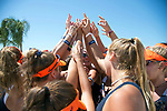 GULF SHORES, AL - MAY 07: The Pepperdine University team celebrates their semifinal victory during the Division I Women's Beach Volleyball Championship held at Gulf Place on May 7, 2017 in Gulf Shores, Alabama. Pepperdine defeated Hawaii 3-0 to advance to the championship game.  (Photo by Stephen Nowland/NCAA Photos via Getty Images)