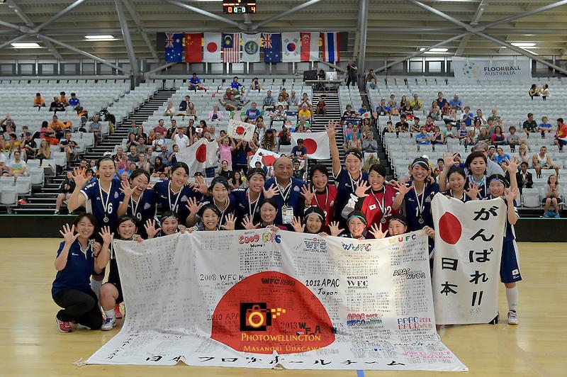 Japan Team, World Floorball Championships 2017 Qualification for Asia Oceania Region at ASB Sports Centre , Wellington, New Zealand on Sunday 5 February 2017.<br /> Photo by Masanori Udagawa<br /> www.photowellington.photoshelter.com.