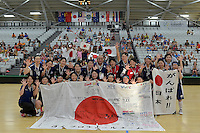 Japan Team, World Floorball Championships 2017 Qualification for Asia Oceania Region at ASB Sports Centre , Wellington, New Zealand on Sunday 5 February 2017.<br /> Photo by Masanori Udagawa<br /> www.photowellington.photoshelter.com.