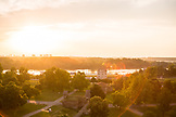 SERBIA, Belgrade, Sunset on the River Danube, Eastern Europe