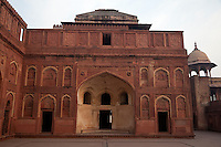 Agra, India.  Agra Fort, Jahangiri Mahal.  Islamic Arches.