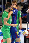 League LNFS 2017/2018 - Game 10.<br /> FC Barcelona Lassa vs CA Osasuna Magna: 3-3.<br /> Eric Martel vs Esquerdinha.