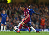 30th September 2017, Stamford Bridge, London, England; EPL Premier League football, Chelsea versus Manchester City; Ngolo Kante of Chelsea challenges Gabriel Jesus of Manchester City