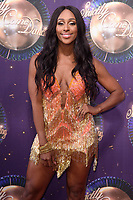 Alexandra Burke at the launch of the new series of &quot;Strictly Come Dancing&quot; at New Broadcasting House, London, UK. <br /> 28 August  2017<br /> Picture: Steve Vas/Featureflash/SilverHub 0208 004 5359 sales@silverhubmedia.com