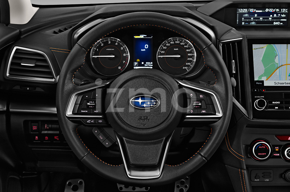 Car pictures of steering wheel view of a 2018 Subaru XV Premium 5 Door SUV