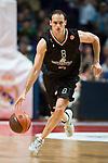 El jugador serbio IGOR RAKOSEVIC dirigiendo el contraataque. REAL MADRID - MONTEPASCHI SIENA. Euroleague 2012. 25 Enero,Palacio de los Deportes.