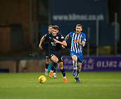 6th February 2019, Dens Park, Dundee, Scotland; Ladbrokes Premiership football, Dundee versus Kilmarnock; Andy Dales of Dundee races away from Alan Power of Kilmarnock