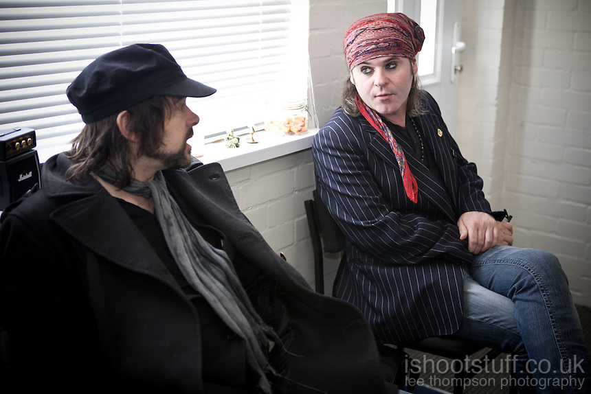 The Quireboys in the studio recording their next album with Chris Tsangarides