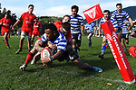 NELSON, NEW ZEALAND - AUGUST 2: Division 2 Rugby Final - Stoke v Riwaka at Greenmeadow, Stoke. 3 August 2019 in Nelson, New Zealand. (Photo by Chris Symes/Shuttersport Limited)