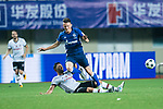 FC Schalke Midfielder Yevhen Konoplyanka (L) trips up with FC Schalke Forward Fabian Reese (R) during the Friendly Football Matches Summer 2017 between FC Schalke 04 Vs Besiktas Istanbul at Zhuhai Sport Center Stadium on July 19, 2017 in Zhuhai, China. Photo by Marcio Rodrigo Machado / Power Sport Images