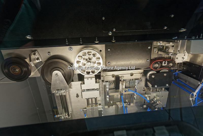Pictured: Inside one of the machines build by Spectrum Technologies in Bridgend, Wales, UK. Wednesday 19 February 2020<br /> Re: The effect of the Ford factory closure will have to Bridgend in south Wales, UK.